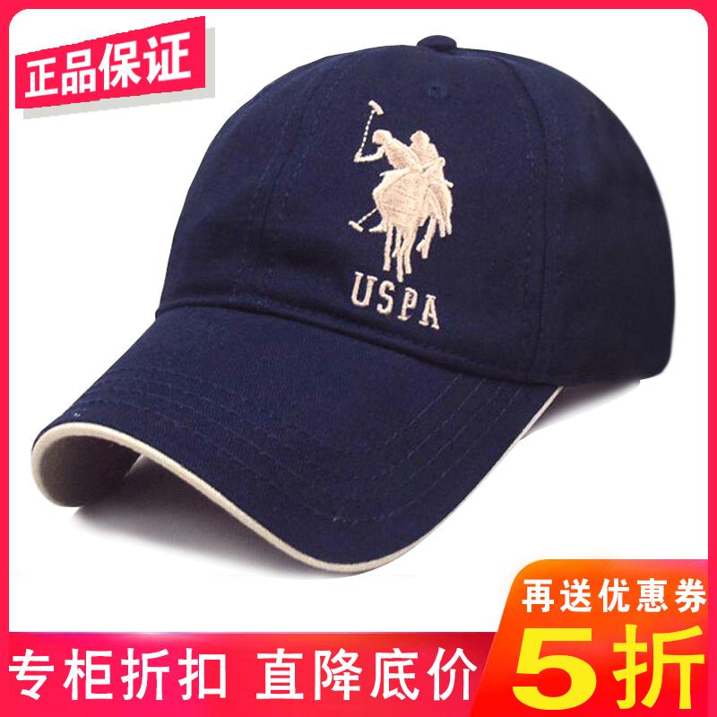 正品美国POLO保罗棒球帽男士中青年纯棉户外遮阳鸭舌帽高尔夫帽子