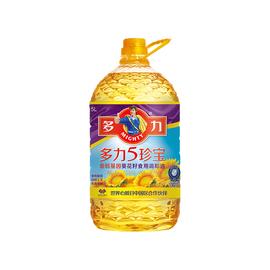 多力5珍宝食用植物调和油5L含葵花籽食用油 认证升级新老包装升级图片