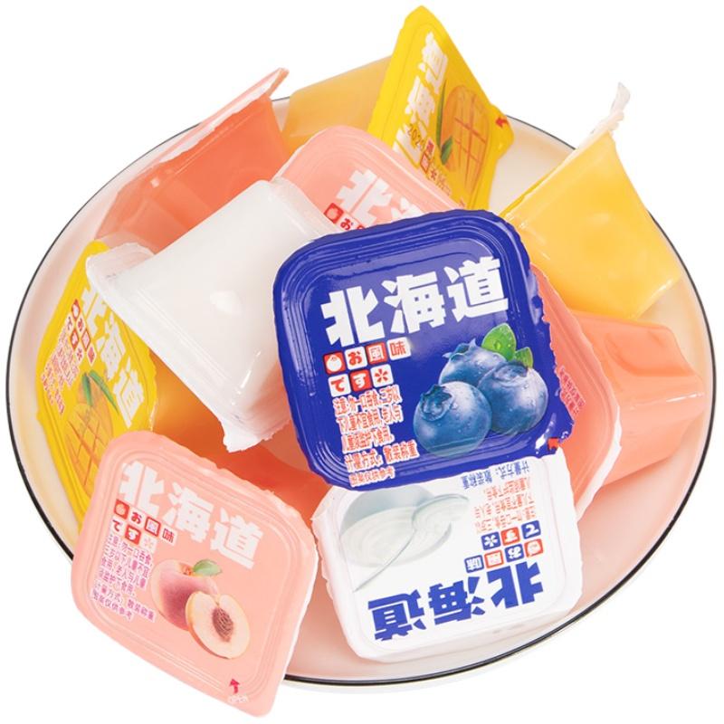 甜苦瓜果冻北海道布丁奶酪综合水果味儿童小零食布丁果肉果冻整箱网上购物优惠券