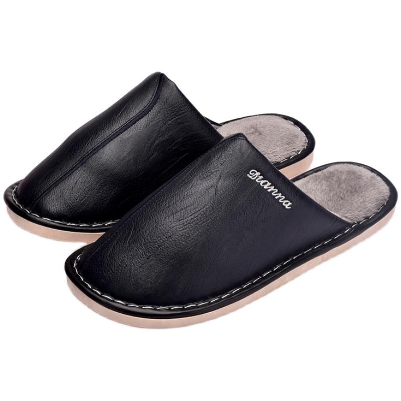 皮拖鞋女士居家室内防水pu防滑厚底买后点评