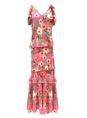 时尚套装女2020夏新款吊带雪纺碎花蛋糕裙超仙显瘦性感气质两件套