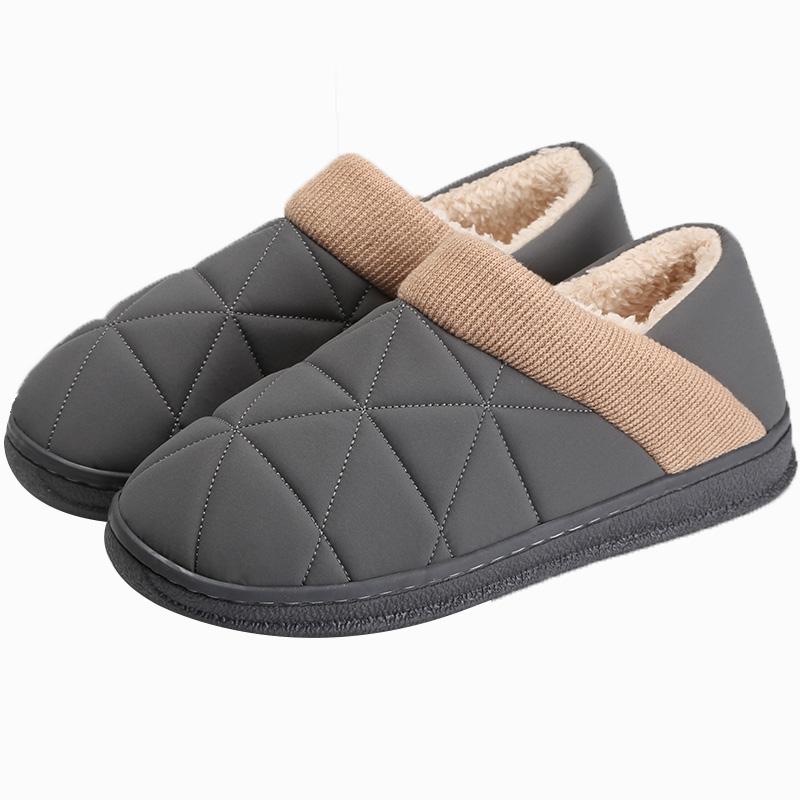 远港男士包跟家用秋冬季室内棉拖鞋质量如何