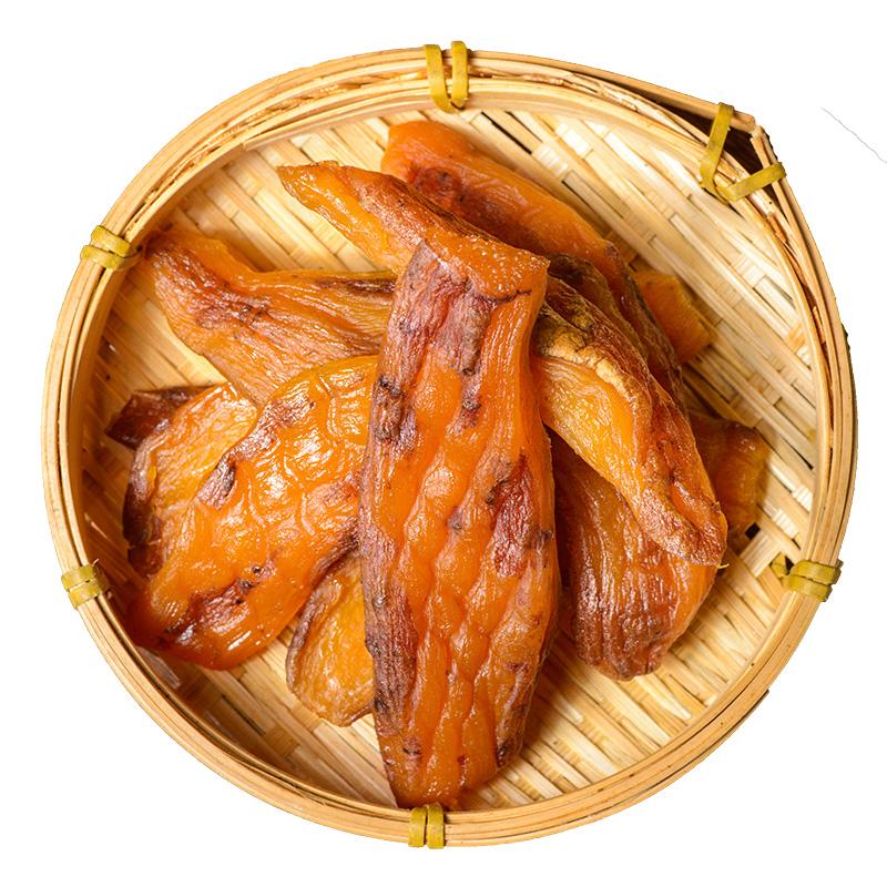 倒蒸红薯干带皮香薯地瓜干农家自制无糖精零食无油添加软糯番薯条