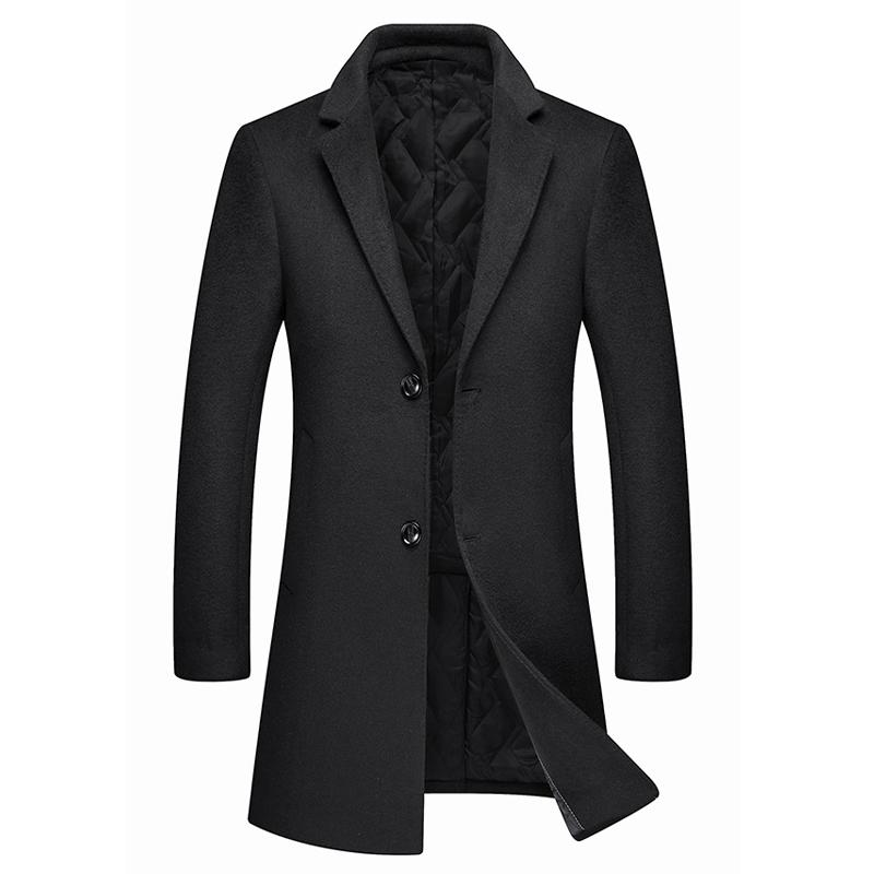 秋冬羊毛呢大衣男韩版潮流西装领妮子中长款毛呢外套男士呢子风衣