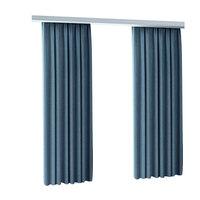加厚棉麻环保卧室全遮光挂钩式窗帘质量如何