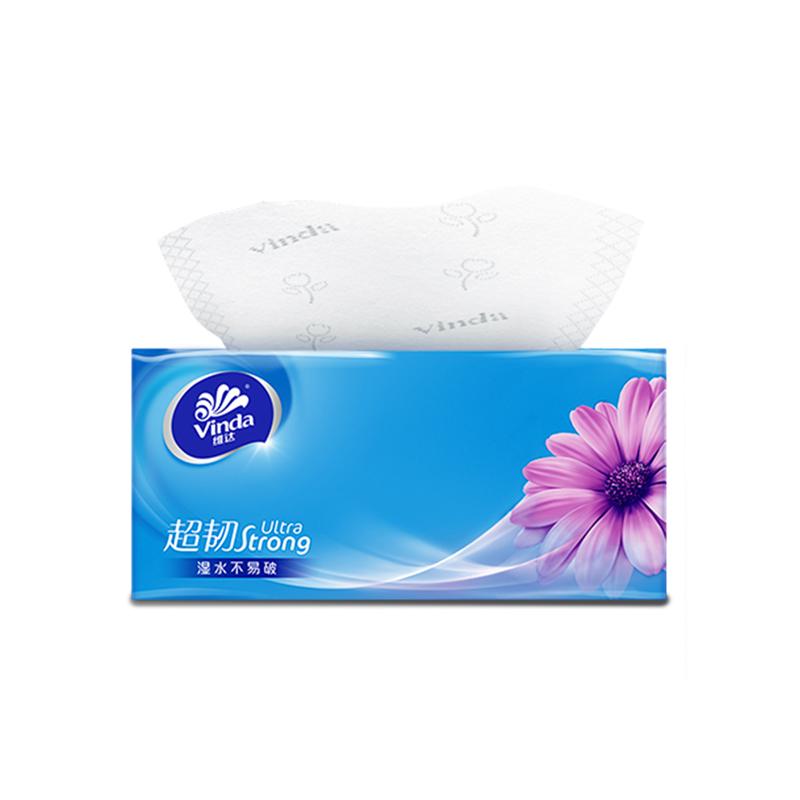 维达抽纸超韧纸巾3层S码130抽24包 原生木浆面巾纸无香餐巾纸bc