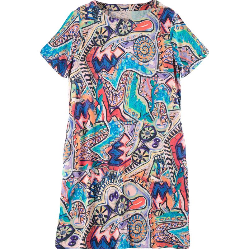 妈妈女装夏天2021新款中老年棉绸人造棉绵中长裙子四五十岁连衣裙