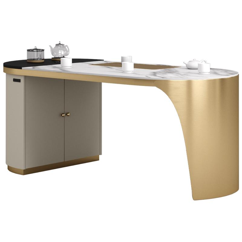 轻奢茶台一体办公室简约现代烧水壶好用吗?
