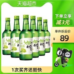 韩国进口真露青葡萄味烧酒13度360ml*6瓶果味清酒利口预调鸡尾酒