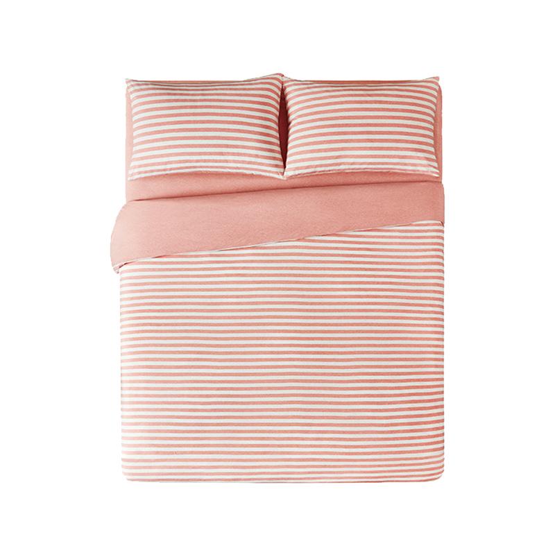 淘宝心选全棉针织条纹四件套款床笠好用吗