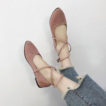 女2018新款百搭网红软妹公主仙女鞋