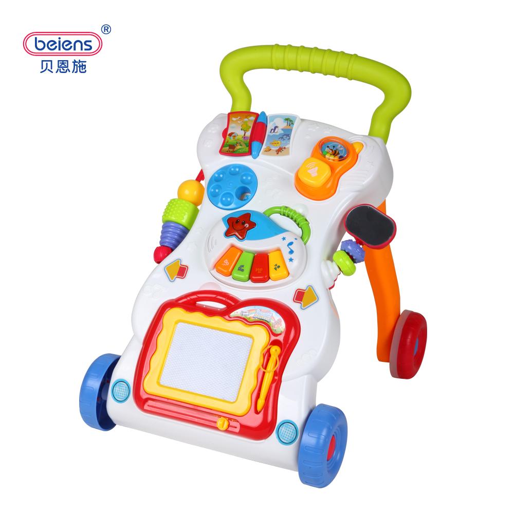 貝恩施嬰兒學步車手推車9~18個月兒童寶寶帶音樂多 防側翻玩具