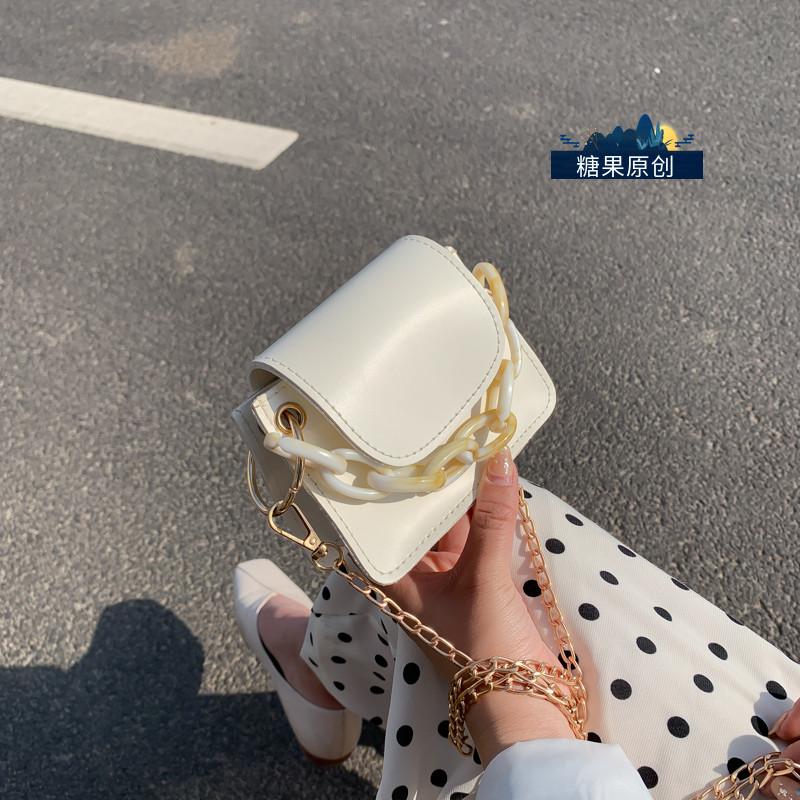 网红小包包女2020夏天新款潮时尚斜挎包韩版百搭小ck链条迷你挎包