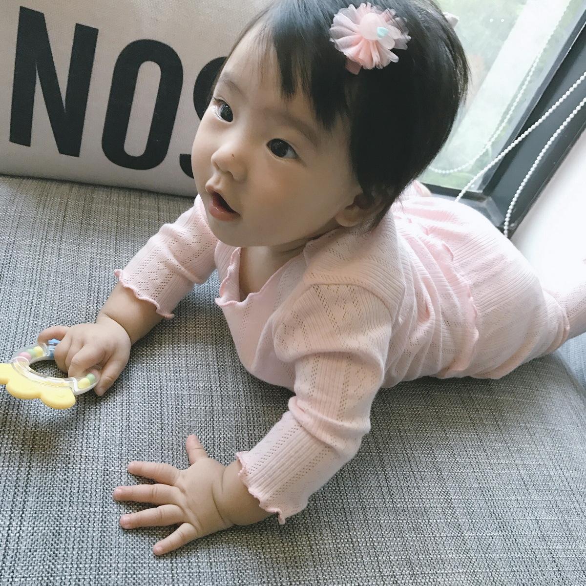 秋冬新款会呼吸的家居服男女宝宝纯棉内衣裤套装儿童舒适幼儿睡衣