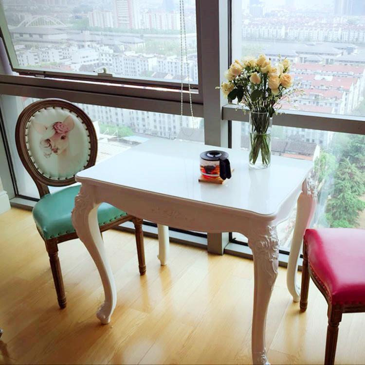 热销65件假一赔十新款小户型欧式田园餐桌品质餐台简约方桌饭桌小户型欧式餐桌白色