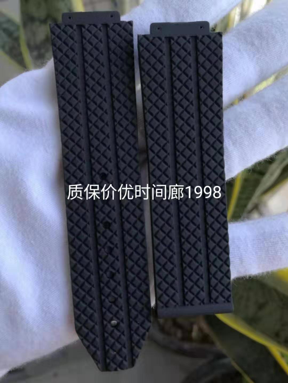 适合代用 蘅宝高档黑色格仔防水橡胶硅胶表带(中通包邮)