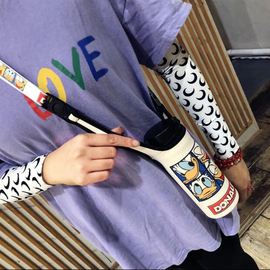 膳魔师象印保温杯套带背带可斜挎350 500ml通用卡通水杯袋保护套