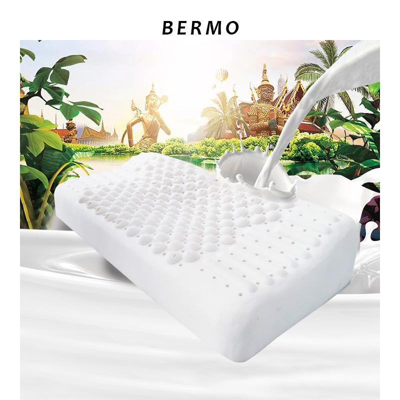 宝缦蝶形按摩泰国进口乳胶乳胶枕