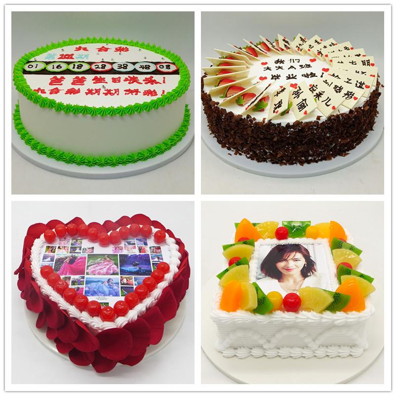 仿真数码相片蛋糕模型明星婚礼照片玫瑰假蛋糕样品活动庆典道具