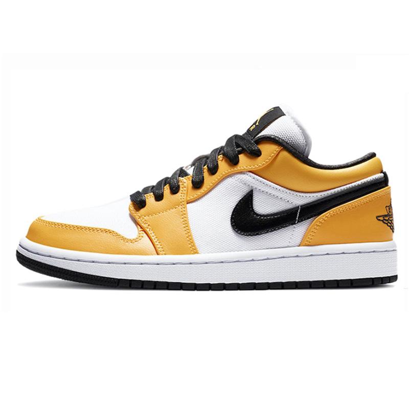 耐克女鞋正品AIR JORDAN 1 LOW AJ1新秀白橙湖人篮球鞋CZ4776-107