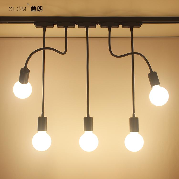 LED软管射灯长杆长臂导轨灯服装店铺橱窗背景墙明装轨道软杆射灯