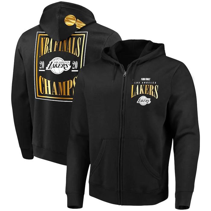 Fanatics Branded 2020年NBA总决赛冠军湖人DNA全拉链男子连帽衫