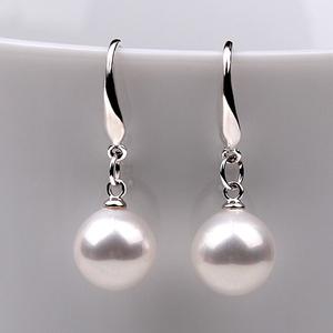 925纯银珍珠耳环韩国复古百搭珍珠耳坠长款气质防过敏女耳饰耳钉