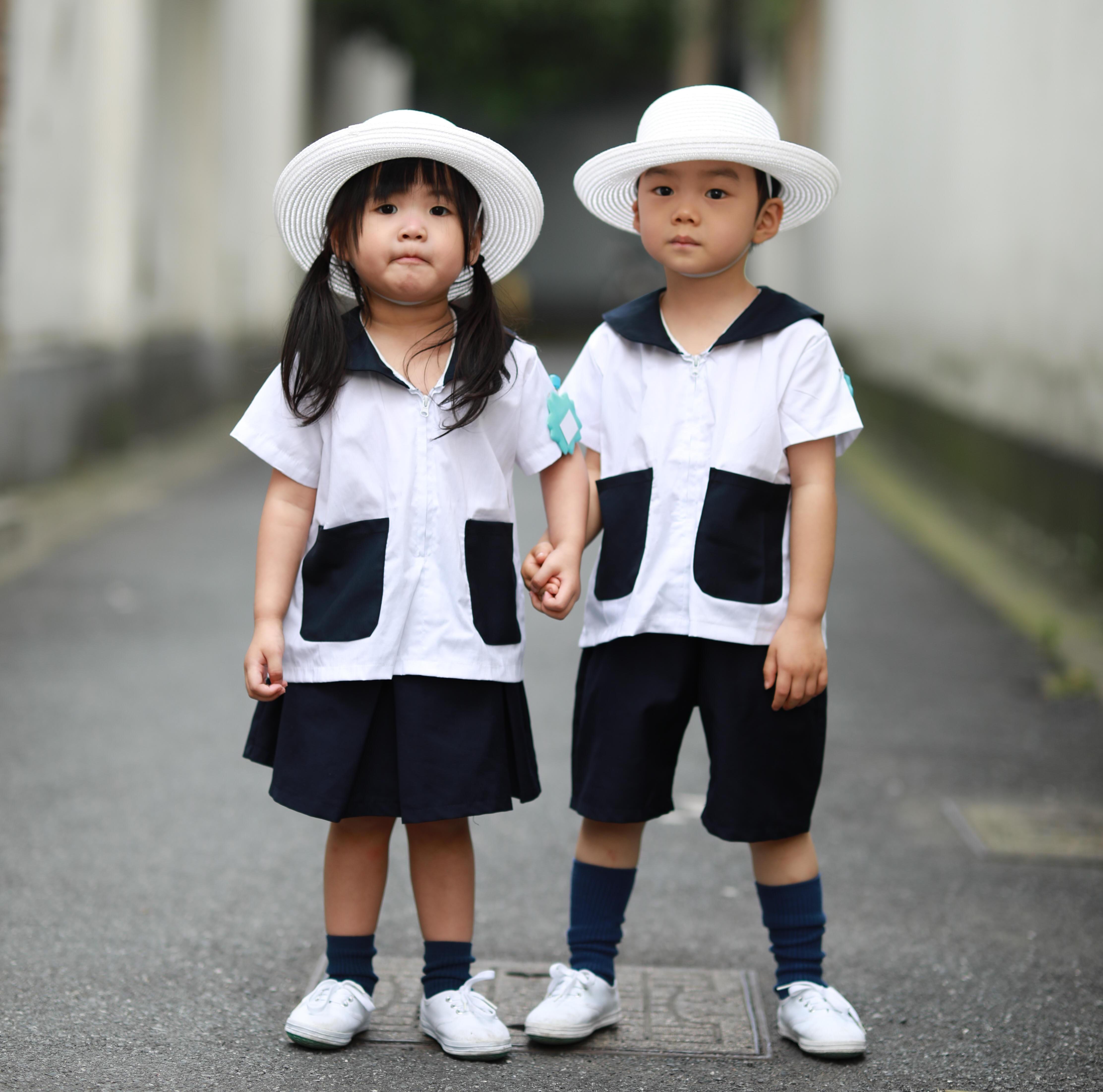 男女儿童JK童装校服 夏服衬衫 日本可爱班服园服幼稚园婴儿亲子