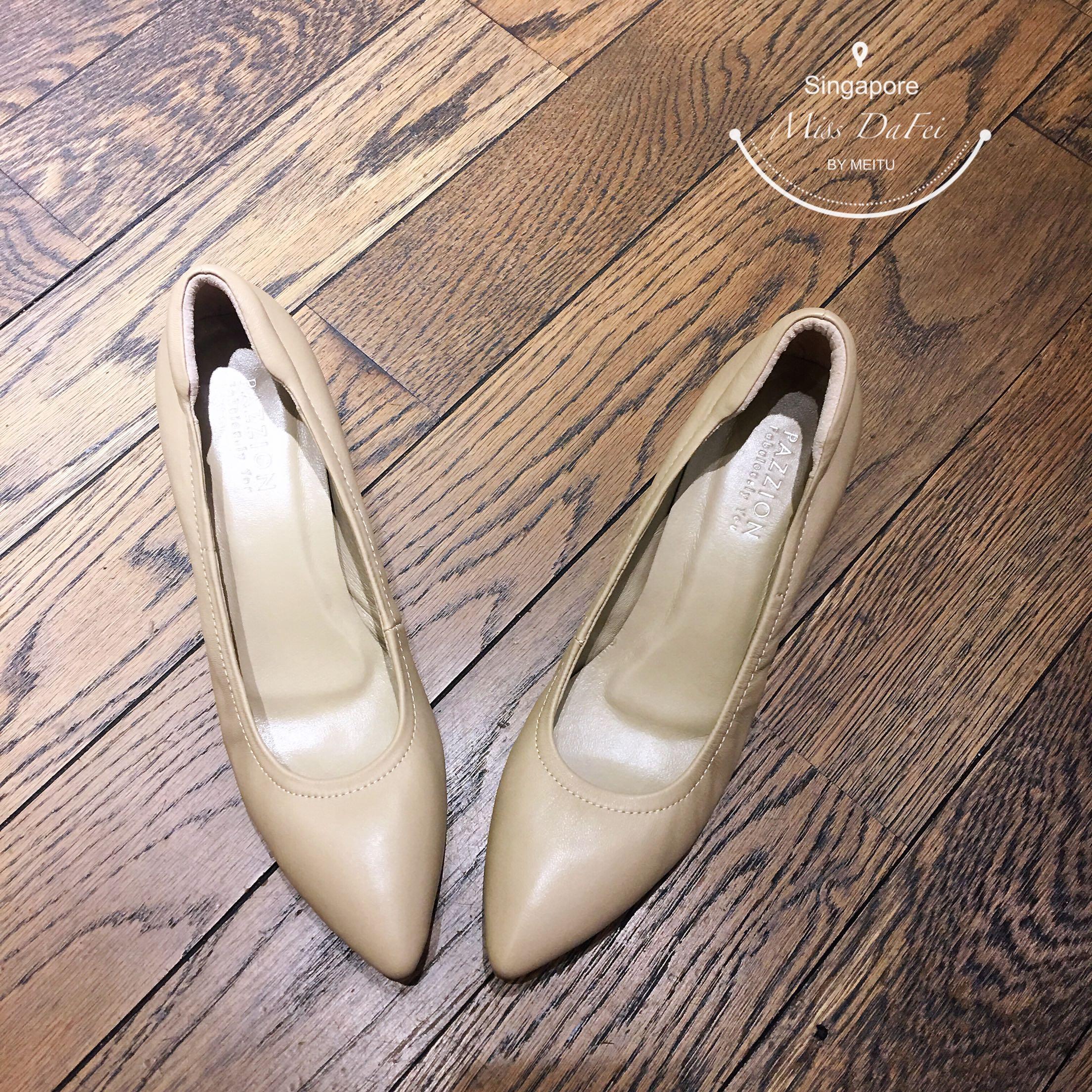 【韩剧金秘书同款】不磨脚后跟柔软小中跟女鞋pazzion新加坡代购