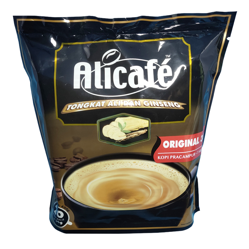 Malaysian white coffee Ali coffee 5 in 1 instant Alicafe coffee 20 pack