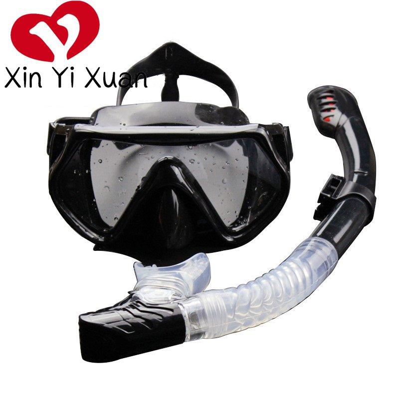 潜水眼镜带呼吸全干式呼吸管带泳镜(用1元券)