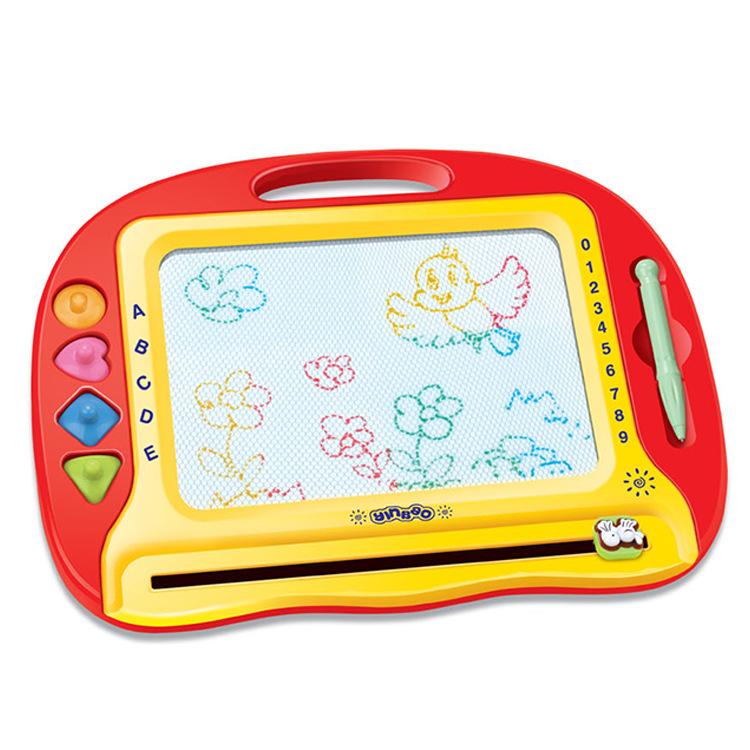 南国婴宝儿童玩具益智早教涂鸦磁性趣味图章绘画学习彩写字板热销