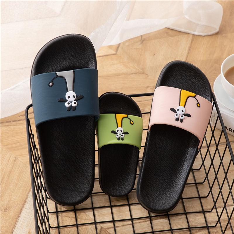 一家三口亲子可爱拖鞋女夏季室内居家用防滑情侣浴室卡通凉拖鞋男
