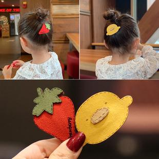 髮夾兒童頭飾髮卡公主頭花bb夾女童夾子卡通水果韓國寶寶髮飾卡子