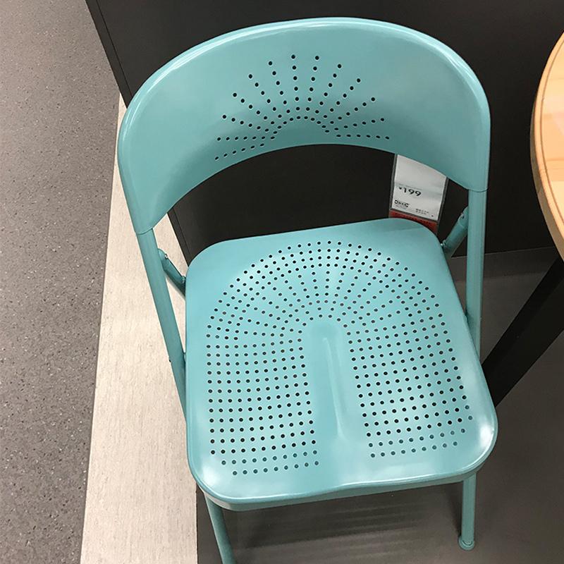 宜家国内代购夫洛德折叠椅多色办公室椅子学习用餐工作成人椅午休