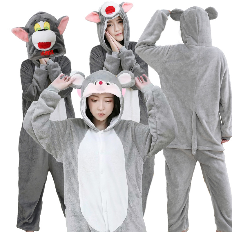 Adult show costumes lovers cartoon animal pajamas tom cat and mouse annual meeting winter