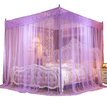 The new mosquito net 1.5 m 1.8 m bed double family with 1.2 net red landing bracket encrypted and thickened three-door tattoo