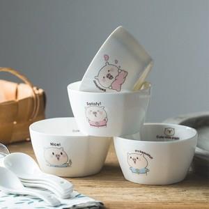 。儿童碗大童陶瓷 创意可放消毒柜大号一个人套装单人饭碗家用可