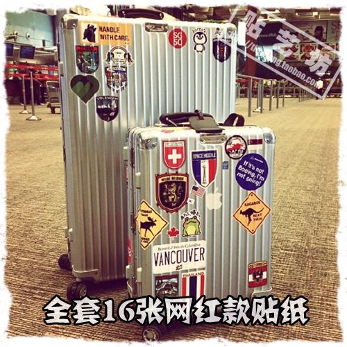 包邮网红款大号rimowa旅行箱贴纸行李箱拉杆箱笔记本电脑箱包防水