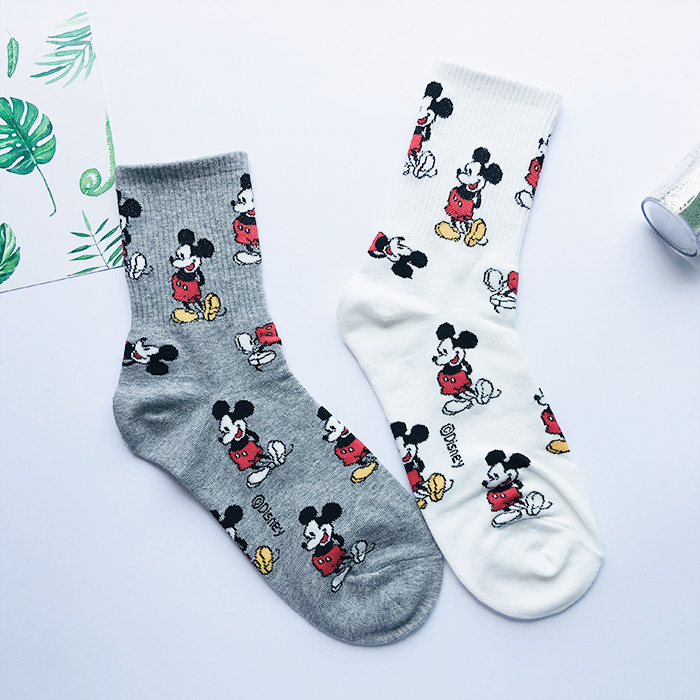Korean imported cotton cartoon socks children with board shoes beautiful lovely Japanese fashionable socks