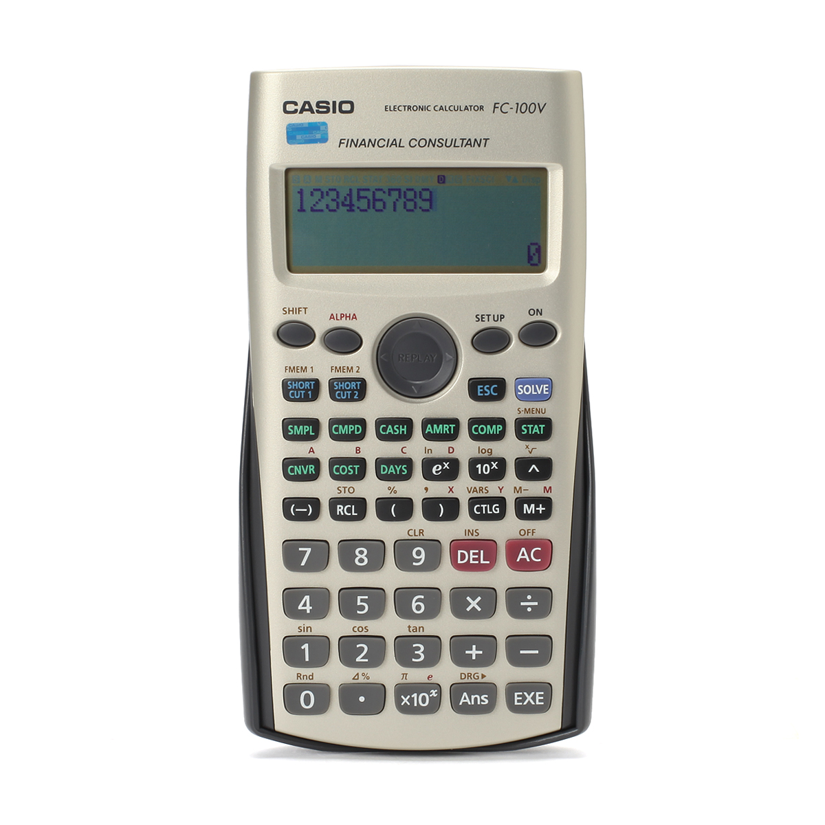 Casio Fc 100v Financial Calculators Cfa Exam Dedicated Computer Genuine Mail