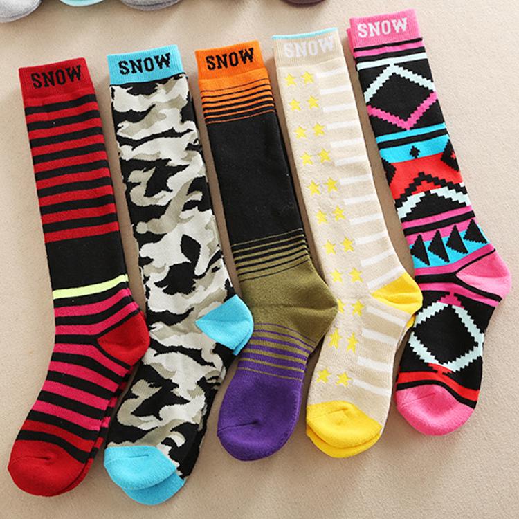 (用10元券)男女滑雪袜登山长筒袜户外运动袜儿童滑雪袜子加厚保暖高筒长袜子