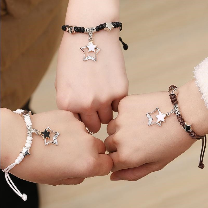 Best friend three people Bracelet female Bracelet ancient style two sisters Bracelet female student Korean version simple single hand decoration gift