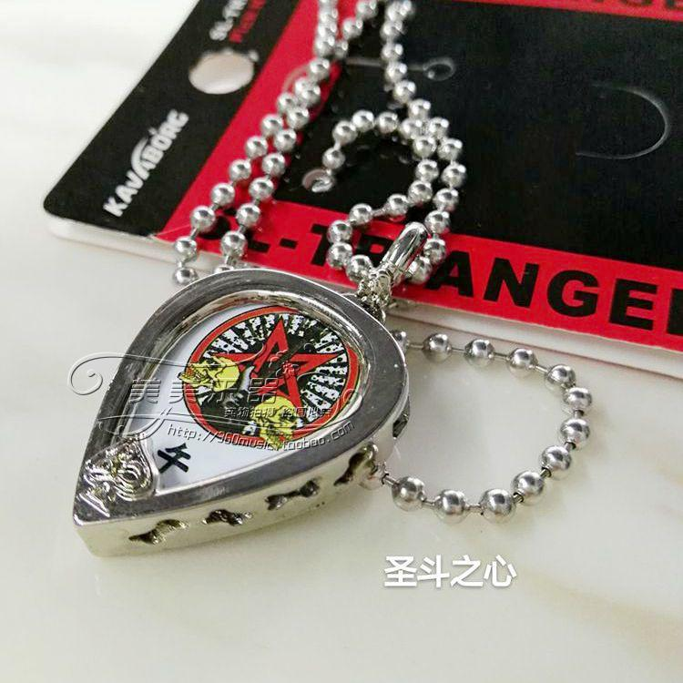 Postal Rock Guitar Pick Necklace personality fashion Wang Feng same Pendant Stainless Steel Necklace Bracelet Ring