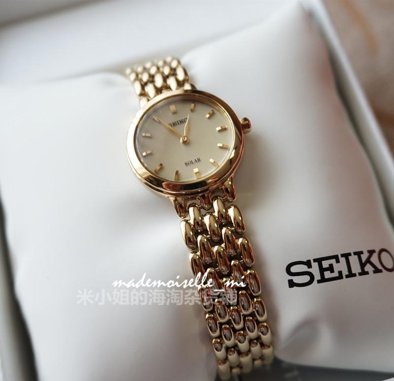 联保国内现货精工复古女士手表 光能精致小表盘镀金防水腕表