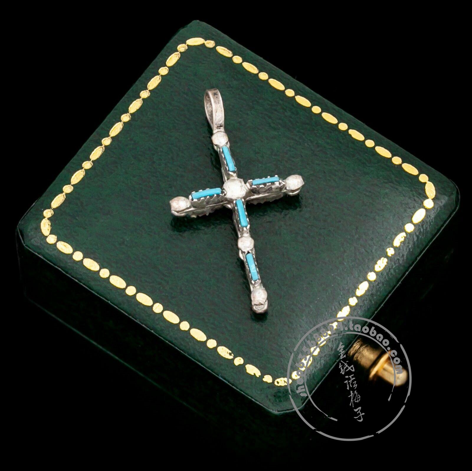 代购纯银风格纳瓦霍十字架立体吊坠