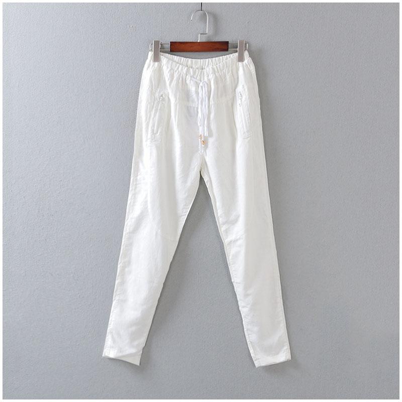 Стильный новый Корейский досуг чистая упругие талии брюки в летних женщин Z3-170