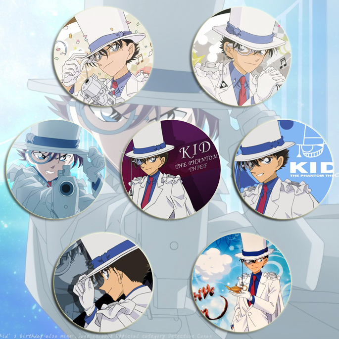 Detective Conan Kidd BADGE / Kidd BADGE / Magic fight Kidd badge star magic badge 10 packages