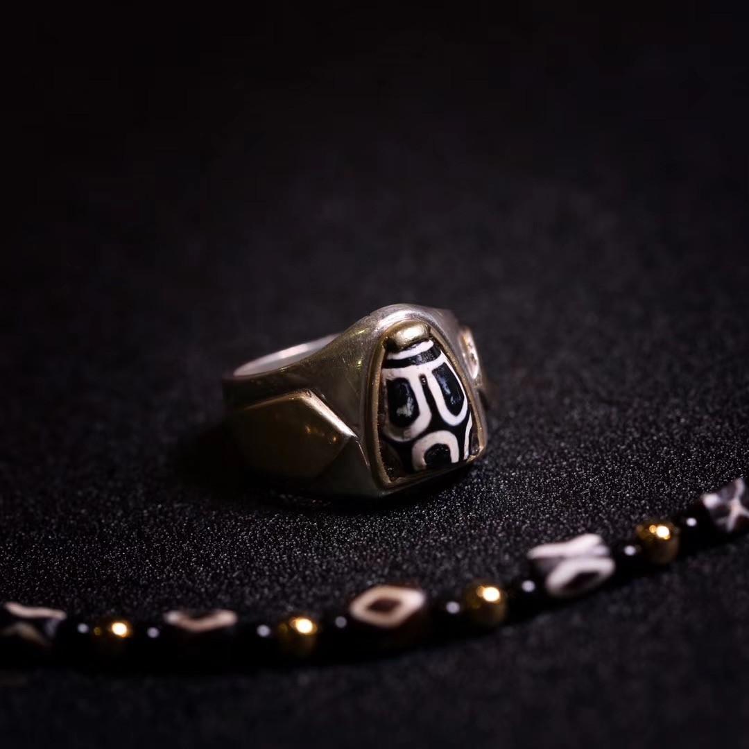 =凌子在拉萨=西亚千年寿珠 DIY设计戒指 珠宝设计 个性化设计