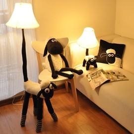 卡通羊儿童房台灯卧室床头立式台灯 LED调光创意可爱落地灯礼物图片
